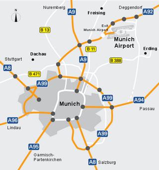 Monachium lotnisko trasa