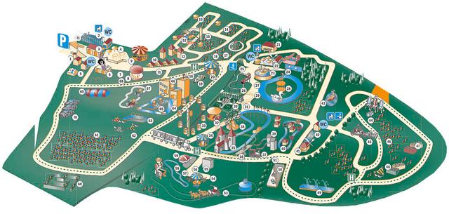 Churpfalzpark-mapa