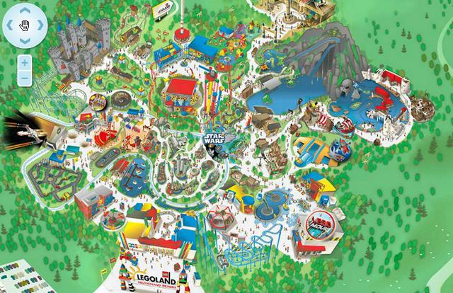legoland mapa